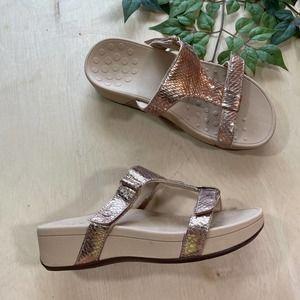 Vionic Ellie Metallic Snake Orthotic Sandal
